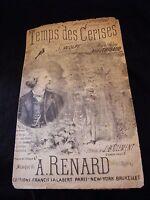 Partition Temps des cerises J Wolff A Renard Music Sheet