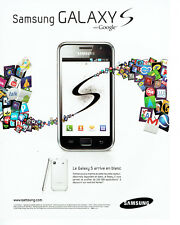 Publicité Advertising 058   2011   le mobile Samsung Galaxy S with google