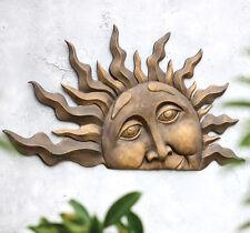 Half Sun Wall Plaque Sculpture Outdoor Patio Porch Deck Fence Office Home Decor