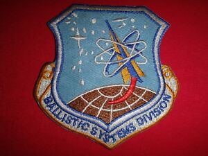 US Air Force BALLISTIC SYSTEMS DIVISION Patch