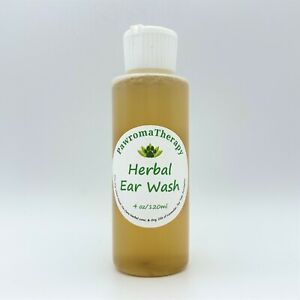 Herbal Ear Wash for Dogs and Cats 4 oz, Natural Ear Cleaner, Ear infection