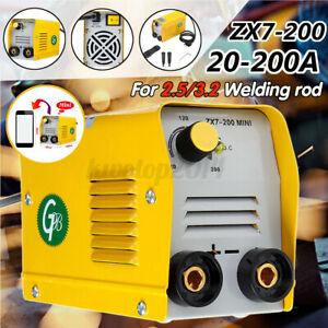Mini Electric Welding Machine IGBT DC Inverter ARC MMA Stick Welder ZX7-200 H1N8