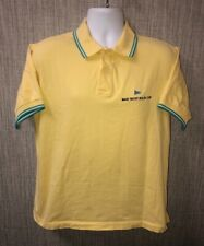 Rolex MAXI YACHT ROLEX CUP Mens Yellow Golf Polo Shirt Size L