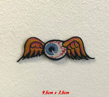 Flying eye ball wings art badge clothes Embroidered Iron or Sew on Patch
