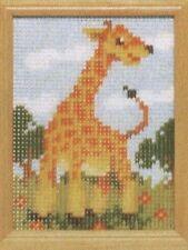 Stickpackung Stickbild Vordruck sticken 10x14 Giraffe Afrika Safari Tiere Zoo
