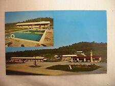 Vintage Photo Postcard Twin View Rancho Motel W/ Street Cars Chattanooga Unused