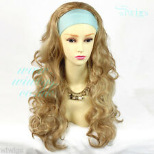 Wiwigs Blonde & Brown Long Curly 3/4 Fall Hairpiece Half Ladies Wigs