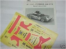 DECALS 1/43 FERRARI 308 RALLY DI BAJA 1985