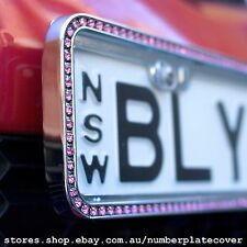 NSW Slimline Sparkling Pink Crystal Number Plate Cover ( in Pairs )