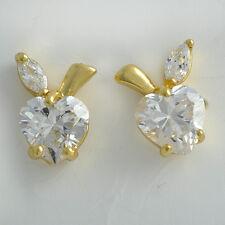 Rhinestone red crystal earrings 14K Gold Filled earrings womens christmas korean