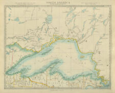 LAKE SUPERIOR Canada USA Ontario Michigan Wisconsin Minnesota SDUK 1874 map