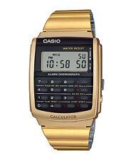 Vintage Casio CA-506G-9A CA-506 Unisex Calculator Watch Gold NEW
