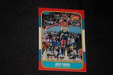 JACK SIKMA 1986-87 FLEER SIGNED AUTOGRAPHED CARD #102 BUCKS