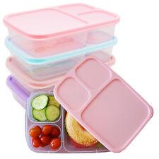 Lunchbox 8-tlg Set Frühstücksbox 3-Fächer Brotdose Brotbox Picknick Dose Gefrier