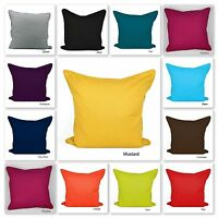 Plain Dyed Cushion Covers 100% Cotton With Piped Edging + Free U.K Delivery