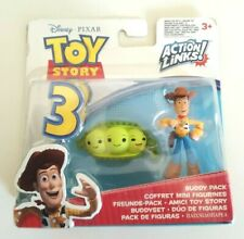DISNEY PIXAR TOY STORY 3 ACTION LINKS BUDDY PACK FIGURES WOODY MATTEL 2009
