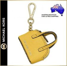 Michael Kors MK Cindy Leather Mini Handbag Bag Charm Key ring chain Coin Purse