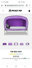 Privacy Pop Bed Tent Full Bed- Purple
