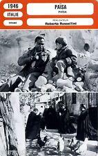Fiche Cinéma. Movie Card. Païsa (Italie) Roberto Rossellini 1946