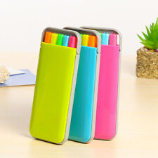 Solid Glitter Highlighter Markers Fluorescent Pen Set Gift Stationery Rose Color