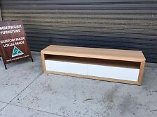 Australian Made Tassie Oak Hardwood Timber Byron Wall Mountable Tv Unit