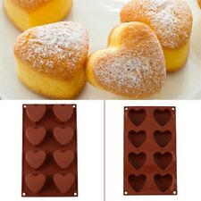 Unmolding 8 Hearts Silicone Cake Chocolate Jelly Candy Ice Mould Stock Mold JL