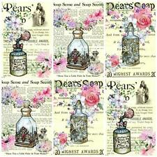 Card Toppers Pears Soap Perfume Bottle - Glossy Finish Card Making Toppers