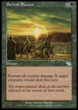 MTG 4x SERENE SUNSET - Judgment *DEUTSCH GERMAN*