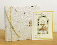 Album for Photos to 20 Sheets 22 x 22 cm Mens First Communion in Paper Natural