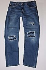 Men's Levi's 502 Premium Red Tab Jeans 34 x 30 Distroyed Distressed w/ Stretch