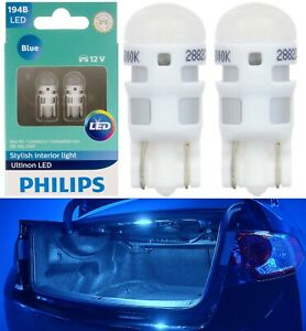 Philips Ultinon LED Light 194 Blue 10000K Two Bulb License Plate Tag Replace JDM