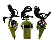 3 in1 Outdoor Camping Emergency Survival Gear Whistle Compass Thermometer Hot