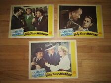 BABY FACE MORGAN  '42  3 lobby cards  Mary Carlisle & Richard Cromwell