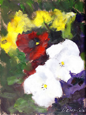 Pansies Daisies Colorful Flowers Home Decor oil painting 6 x 8 Click to Zoom