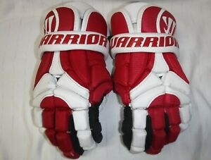 Warrior Mac D-Lite2 Lacrosse Gloves, Red and White, L (S-MDL2GSRDL)