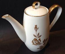 Noritake ROSEWIN Coffee Pot Gold Rose Design #6584 1964-1970 China Made Japan