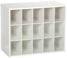Maid Closet New 8983 Stackable 15-Unit Organizer, White
