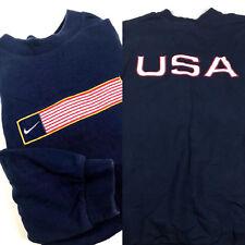 f7943c4e609c9 Nike Olympics Sweatshirt XL American Flag Vintage 90s Tag Rare USA Cotton bg