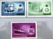 GHANA 1957 17-19 14-16 Black Star Line Inauguraiton Viking Ship Schiffe Gelleon