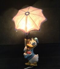 RARE Vintage Donald Duck Childs Wall Lamp/Night Light with Umbrella - USSR Made