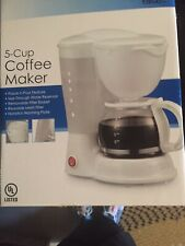 COMPACT KITCHEN ELITE 5-CUP COFFEEMAKER COFFEE MAKER BREWER  WHITE  NEW!