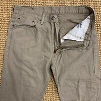 Vintage Levis 505 Jeans Beige Straight Zip Fly Men's Size W36 L32