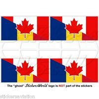 """France Gwadloup Gwada French 75mm Decals x2 GUADELOUPE Flag Stickers 3/"""" Red"""