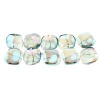 10Pcs Irregular Glass Beads Stone Jewelry Making Beads DIY Necklace Bracelet
