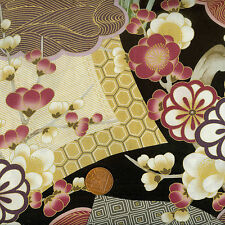 Kona Bay Toshiko Collection TOSH-01 Black Oriental Floral100% Cotton Fat Quarter