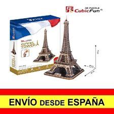 Puzzle 3D TORRE EIFFEL DE PARIS CubicFun Educativo Rompecabezas 82 Piezas a0069