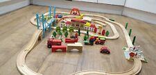 Large Wooden Train Track Bundle Job Lot Brio BigJigs & additional box of Blocks