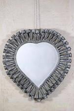 Dusx Fluted Heart Vintage Bronze Large Metal Overmantle Mirror W97 X H104cm