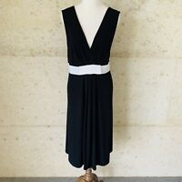 JACQUI E XL (14-16) Black & White Sleeveless Dress Business Corporate, Party
