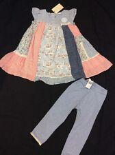 BNWT NEXT 2 Piece Pink & Blue Outfit 12-18 Months
